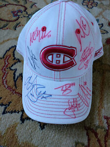 Signed Montreal Canadiens Hat