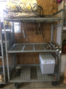 heavy duty steel racking storage on wheels can deliver