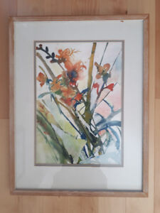 Set of 8 Watercolours by British Artist Linda Looker