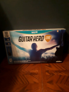 Nintendo  Wii u guitar hero live new in box