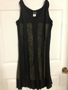 Black & Gold Sparkly Dress New with Tags
