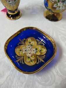 Teal Enameled Dish FROM PAST TIMES Antiques & Coll - 1178 Albert Regina Regina Area image 4