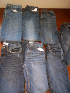 7 pairs of Boys jeans size 10 and 12