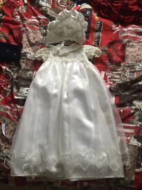 White/ivory christening dress