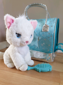 Cat Sparkles Toy In The Carrier Bag