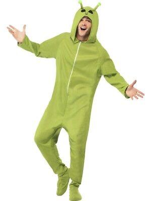 Ausserirdischer Kostüme (Alien Kostüm grün Overall Außerirdischer Alienkostüm)