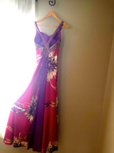 Women's Size 5/6 Pink Sequenced Mari Lee Tail Style Prom Dress