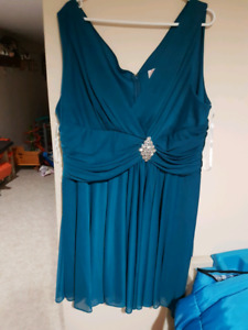 Teal  dress for bridesmaid or anything