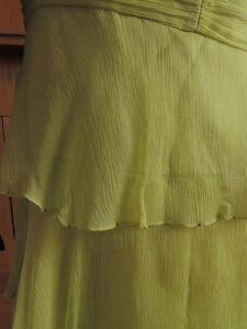 Shelli Segal, designer layered chiffon and silk dress. London Ontario image 5