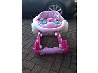 Pink baby walker / rocker