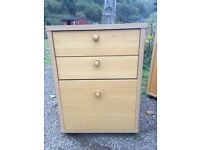 Office set of draws / bedside table 3 draws solid build