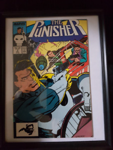 Punisher issue #2 Framed comic book