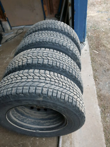 215/70R16 winter tires on rims