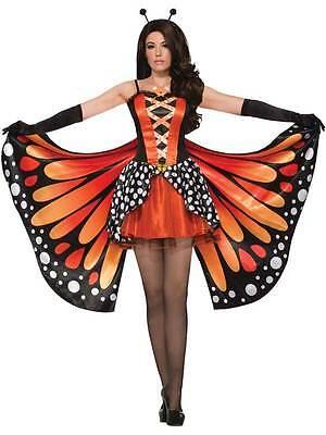Ladies Monarch Butterfly Costume Womens Animal Fairy Fancy Dress Adult - Womens Butterfly Kostüm