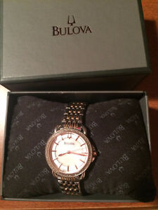LADIES BULOVA ROSE GOLD WATCH EXCELLENT CONDITION Cambridge Kitchener Area image 1