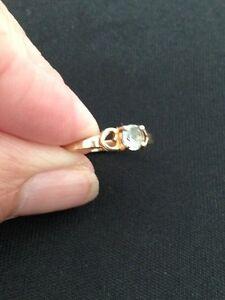 Aquamarine 10 k gold ring London Ontario image 3
