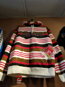 Brand new Supreme striped hoodie from 3rd drop 2018