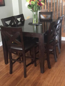 6 piece counter height dinning table package - barely used