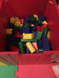lots of coloured building blocks