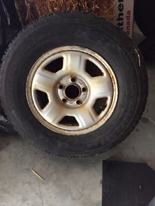 "Set of Four - 15"" Winterforce snow tires on Ford Rims Kitchener / Waterloo Kitchener Area image 1"
