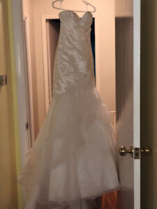 Wedding dress size six.