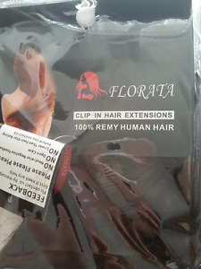 100% Remy Human hair clip on