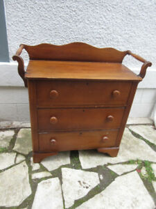 Small Chest of Drawers/Washstand  c1900 with Towel Bars