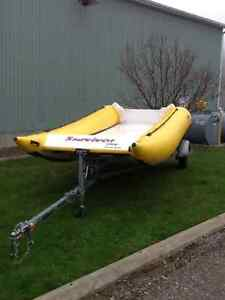 18' INFLATABLE BOAT AND TRAILER London Ontario image 2