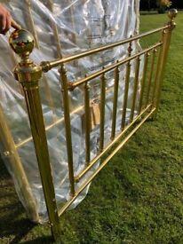 Brass King Sized Headboard and Baseboard