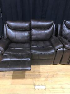 reclining love seat