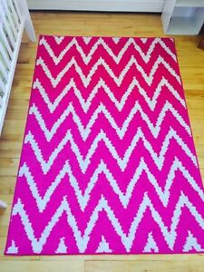 Pink area rug