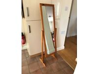 Wooden Cheval Full Length Adjustable Bedroom Mirror