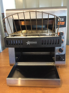 HOLMAN QCS-2-600 H Conveyor Toaster like new video demo