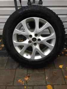 4-Studded Winter Tires on Alloy Wheels