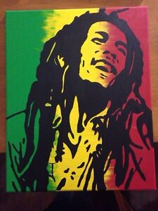 Hand painted Bob Marley Canvas Painting