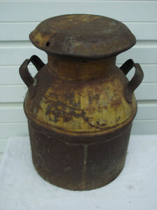 Antique 18 inch tall Milk Can