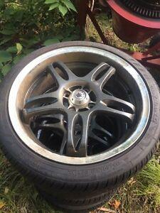 4 konig rims and nankang tires Belleville Belleville Area image 1