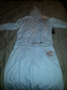White with gold embellishment jumpsuit (track suit)