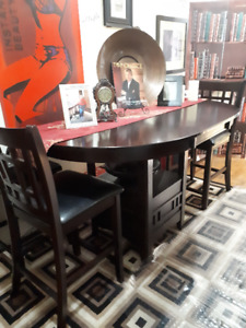 Dining room table with 6 chairs bub style
