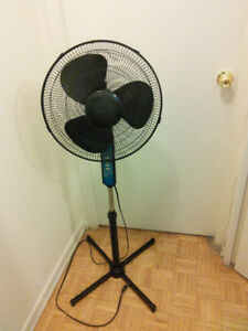 16 inch 3-speed oscillating stand fan for sale $12