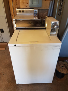 Coin operated commercial washer and dryer