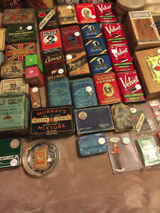 For sale: Tobacco tins/tobacco related products