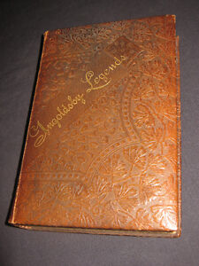 """Antique 1843 LEATHER BOUND BOOK """"The Ingoldsby Legends"""""""