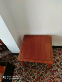 Yew lamp table.