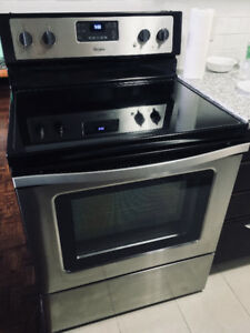Whirlpool Stainless Steel Stove and Fridge