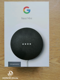 Google Nest mini 2nd generation. New and Unused charcoal colour