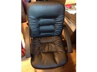 Leather computer chair (used)