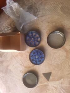 Metallic blue or red or purple 4 piece herb grinders