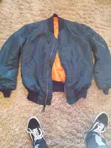 MA-1 Dark Blue Bomber Jacket Windsor Region Ontario image 2