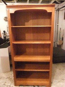solid pine 5 shelf country style china /display cabinet